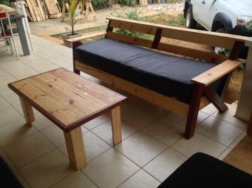 Meuble en palette & bois de Guyane